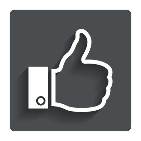 Like sign icon Thumb up sign.  photo