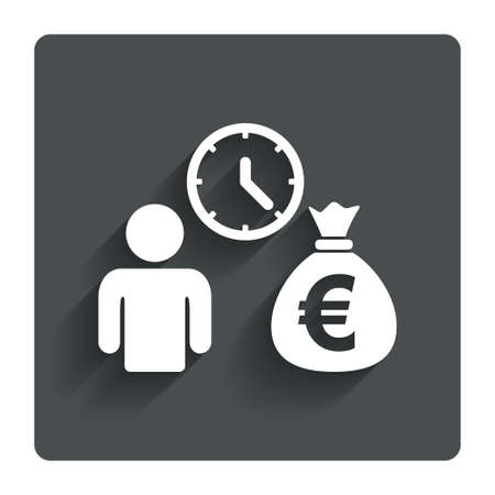 fast money: Bank loans sign icon Get money fast symbol.