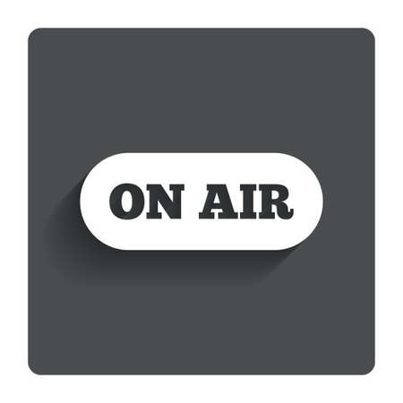 on air sign: On air sign icon.  Stock Photo