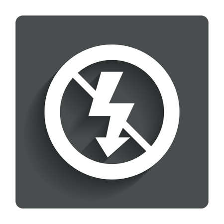 no photo: No Photo flash sign icon.