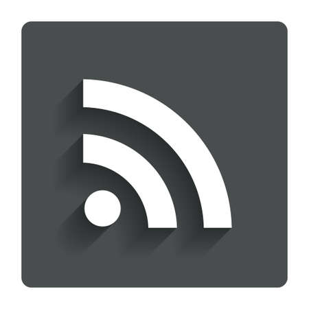 rss feed: RSS sign icon RSS feed symbol.