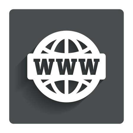 WWW sign icon.  Stock Photo