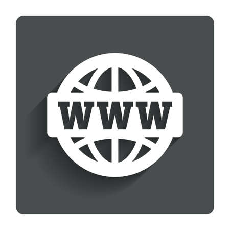 world wide web: WWW sign icon.  Stock Photo