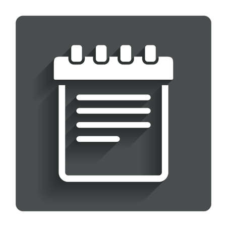 Notepad sign icon.  photo