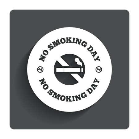 No smoking day sign icon. photo