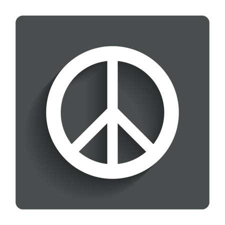 Peace sign icon.  photo