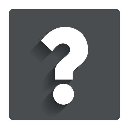 Question mark sign icon.