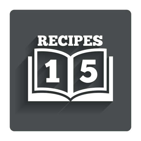 cookbook: Cookbook sign icon.