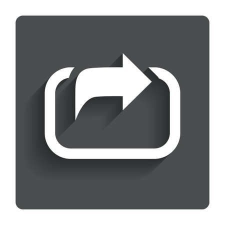 share: Action sign icon.