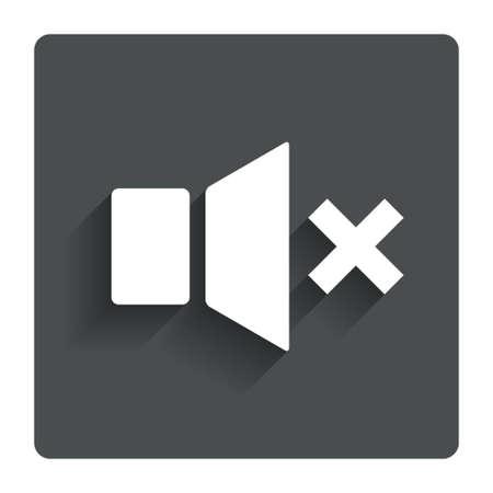 mute: Mute speaker sign icon. Stock Photo