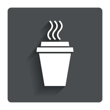 cut away: Take a Coffee sign icon.