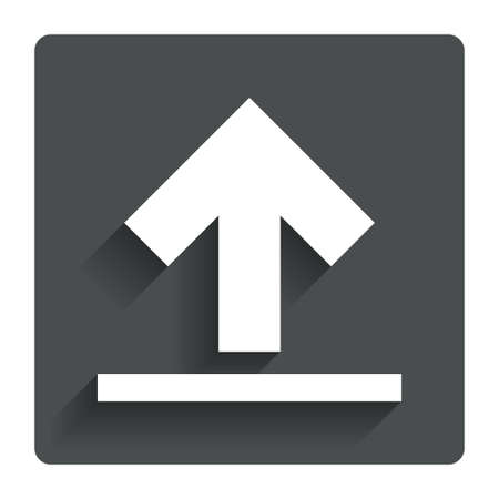 this side up: This side up sign icon. Stock Photo