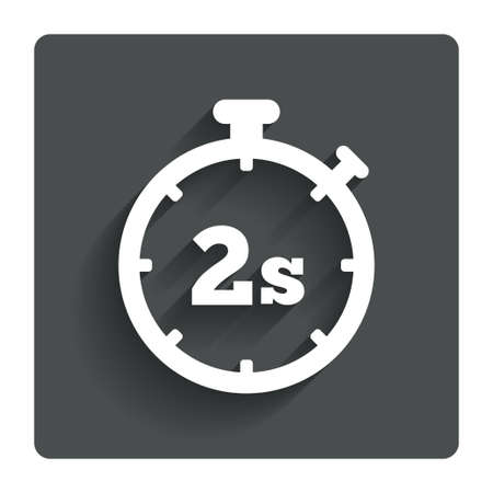 seconds: Timer 2 seconds sign icon.