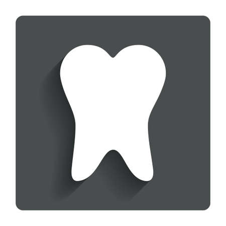 Tooth sign icon.  photo