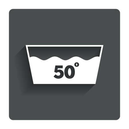 washable: Icono Wash. Lavar a m�quina a 50 grados s�mbolo.