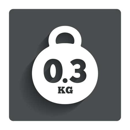 kilogram: Weight sign icon. 0.3 kilogram (kg). Stock Photo