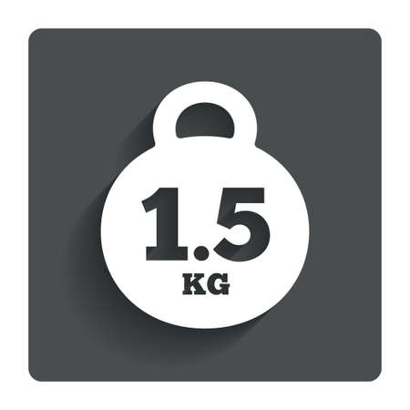 kg: Weight sign icon. 1.5 kilogram (kg). Stock Photo