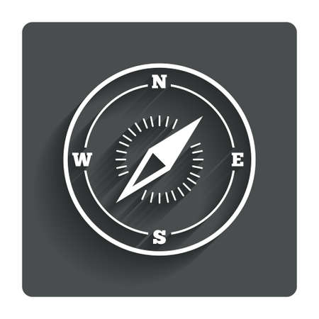 Compass sign icon.
