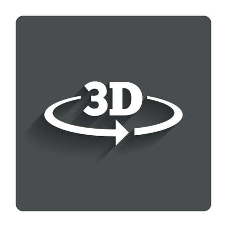3D sign icon.  photo