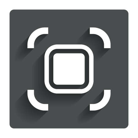 autofocus: Autofocus zone sign icon.