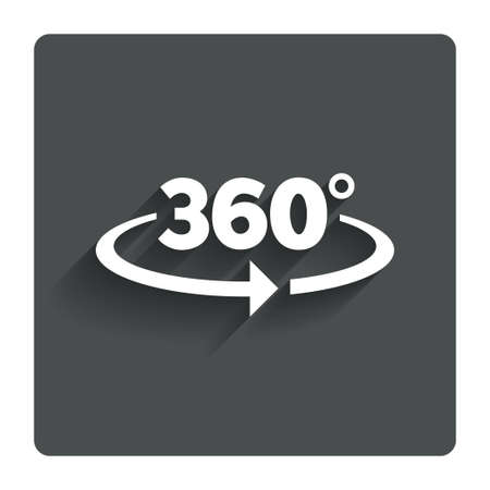 sixty: Angle 360 degrees sign icon. Stock Photo