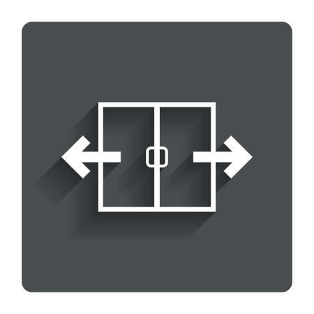 automatic: Automatic door sign icon.