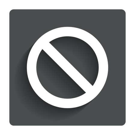 blacklist: Blacklist sign icon. User not allowed symbol. Gray flat button with shadow. Modern UI website navigation.