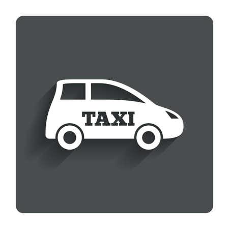 Taxi car sign icon.  photo