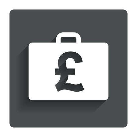 gbp: Case with Pounds GBP sign icon.