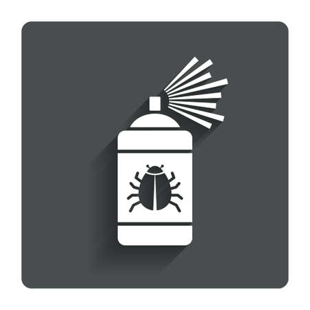 disinfection: Bug disinfection sign icon.