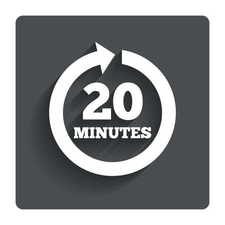 Every 20 minutes sign icon.