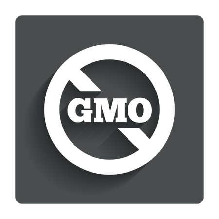 No GMO sign icon.  photo