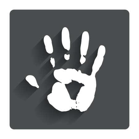 Hand print sign icon. photo