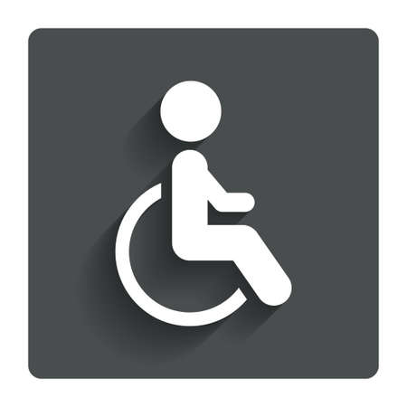 Disabled sign icon.  photo