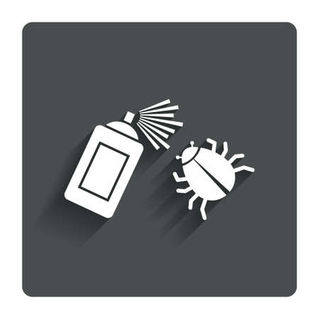 disinfection: Bug disinfection sign icon.  Stock Photo