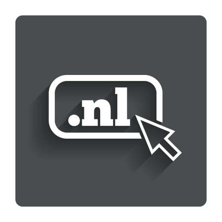 nl: Domain NL sign icon.  Stock Photo