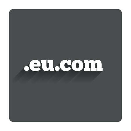 domain: Domain EU.COM sign icon.