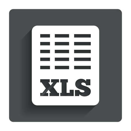 Excel file document icon.