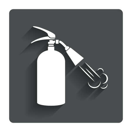 firefighting: Fire extinguisher sign icon.