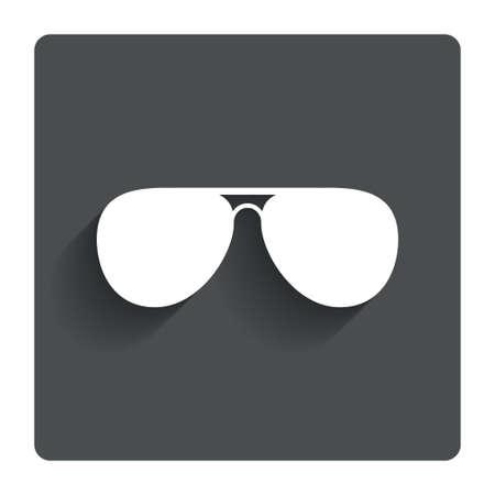 sunglasses: Aviator sunglasses sign icon.