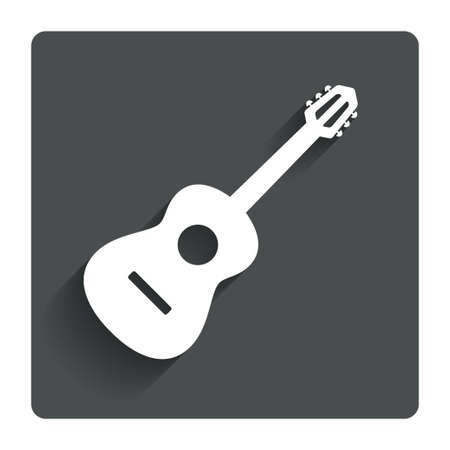 Acoustic guitar sign icon.