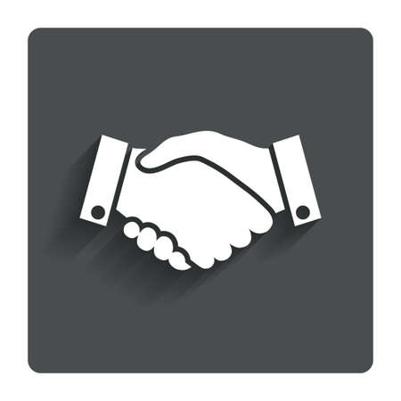 black handshake: Handshake sign icon Successful business symbol.