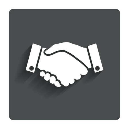bargains: Handshake sign icon Successful business symbol.