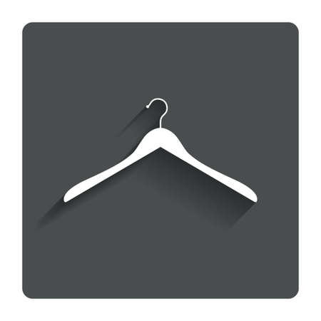 cloakroom: Hanger sign icon Cloakroom symbol. Stock Photo