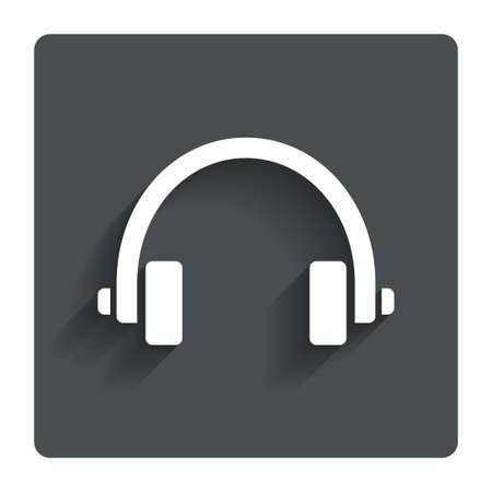 earphones: Headphones sign icon Earphones button.