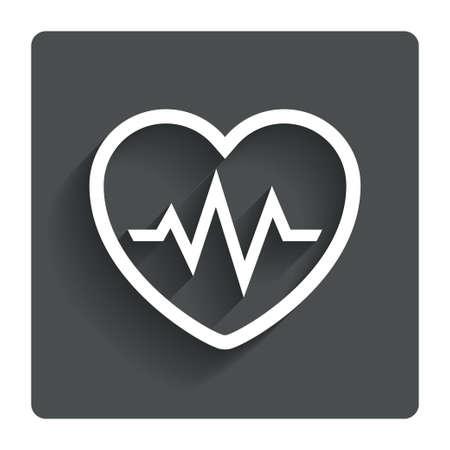 Heartbeat sign icon Cardiogram symbol.  photo