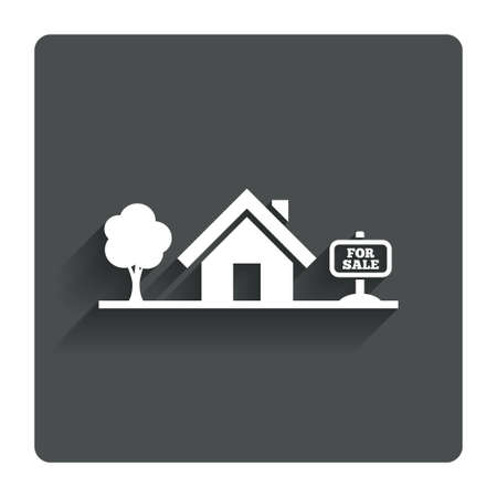 house for sale: Home sign icon House for sale.  Stock Photo