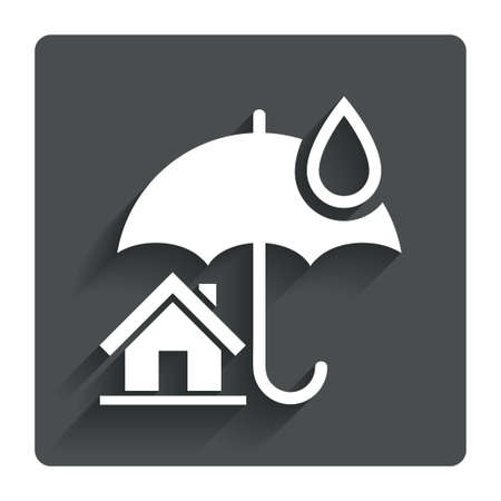 belay: Home insurance sign icon.
