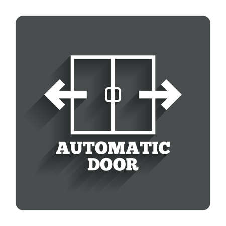 automatic doors: Automatic door sign icon.