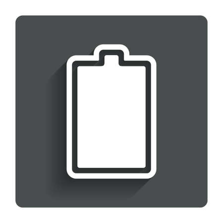 fully: Battery fully charged sign icon.